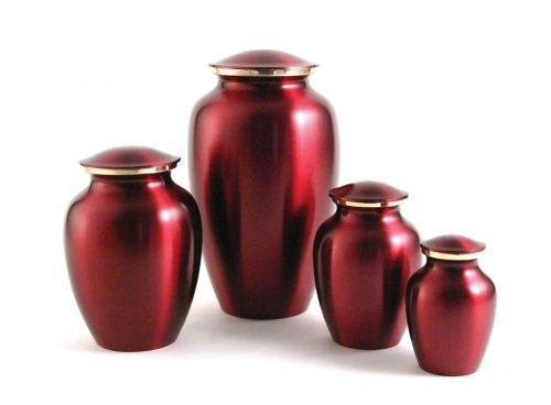 Classic Pet Series Urn - Crimson