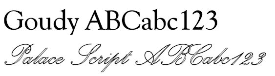 Engraving Letter Styles